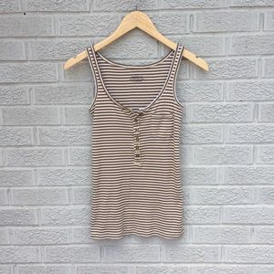 J. Crew Perfect Fit Striped Henley Tank Top